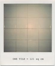white tiles, MoMA bathroom (Robert Ryman)